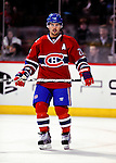 31 March 2010: Montreal Canadiens' right wing forward Brian Gionta warms up prior to a game against the Carolina Hurricanes at the Bell Centre in Montreal, Quebec, Canada. The Hurricanes defeated the Canadiens 2-1 in their last meeting of the regular season. Mandatory Credit: Ed Wolfstein Photo