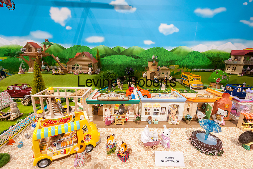 Miniature toy display at the Epoch Everlasitng Play booth at the 114th North American International Toy Fair in the Jacob Javits Convention center in New York on Sunday, February 19, 2017.  The four day trade show with over 1000 exhibitors connects buyers and sellers and draws tens of thousands of attendees.  The toy industry generates over $26 billion in the U.S. alone and Toy Fair is the largest toy trade show in the Western Hemisphere. (© Richard B. Levine)