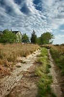 Abandoned rural farm house.