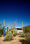 RV life  Tucson area, AZ    .Photo Copyright: Lee Foster, lee@fostertravel.com, www.fostertravel.com,  (510) 549-2202.Image rvlife208
