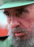FIDEL CASTRO-CUBA- The Cuban President Fidel Castro, is seen in July, 2004 in Havana, Cuba. Castro was intervened surgically and he gave powers like President to his brother Raúl Castro, Ministry of the Armed forces . Credit: Jorge Rey/MediaPunch