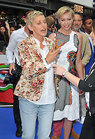 Ellen DeGeneres &amp; Portia de Rossi at the &quot;Finding Dory&quot; UK film premiere, Odeon Leicester Square cinema, Leicester Square, London, England, UK, on Sunday 10 July 2016.<br /> CAP/CAN<br /> &copy;CAN/Capital Pictures ***USA and South America Only**