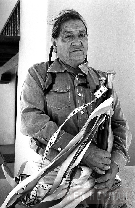 "Paul Bernal, the chief or ""governor"" of the Taos Pueblo in Northern New Mexico."