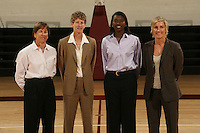 01 October 2007: (L-R): Tara VanDerveer, Amy Tucker, Bobbie Kelsey, and Kate Paye.