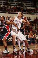 19 January 2006: Kristen Newlin during Stanford's win over the University of California Golden Bears at Maples Pavilion in Stanford, CA.
