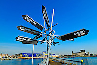 Pier, Signs, IKEA, Red Hook, Brooklyn, New York City, New York, USA