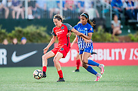 Boston, MA - Friday May 19, 2017: Emily Menges and Margaret Purce during a regular season National Women's Soccer League (NWSL) match between the Boston Breakers and the Portland Thorns FC at Jordan Field.