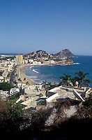 View of Olas Altas beach from Cerro de la Neveria in old Mazatlan, Sinaloa, Mexico