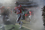 Ole Miss takes the field vs. Arkansas at Vaught-Hemingway Stadium in Oxford, Miss. on Saturday, October 22, 2011. .