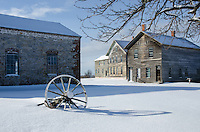 The ghost town of Fayette during the early winter. Fayette State Park, Garden Peninsula.