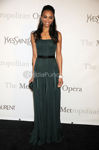 Zoe Saldana at The Metropolitan Opera's 125th Anniversary Gala at The Metropolitan Opera House, Lincoln Center in New York City. March 15, 2009 Credit: Dennis Van Tine/MediaPunch