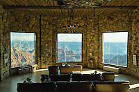 Grand Canyon Lodge, Arizona, Grand Canyon National Park, North Rim, Looking through windows to Grand Canyon