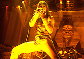 IRON MAIDEN - Bruce Dickinson - performing live on the first leg of the World Slavery Tour in UK & Europe - 09 Aug-14 Nov 1984. Photo credit: George Bodnar Archive/IconicPix