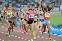 Mary Kuria of Kenya winning the Womens 1500m race at the Sainsbury Anniversary Games, Olympic Stadium, London England, Friday 26th July 2013-Copyright owned by Jeff Thomas Photography-www.jaypics.photoshelter.com-07837 386244. No pictures must be copied or downloaded without the authorisation of the copyright owner.