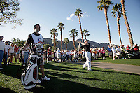 24 January 2009: Celebrity golfer Oliver Hudson hits the ball off the cart path on 18 at Palmer Private at PGA West in La Quinta, California during the fourth round of play at the 50th Bob Hope Classic, PGA golf tournament.