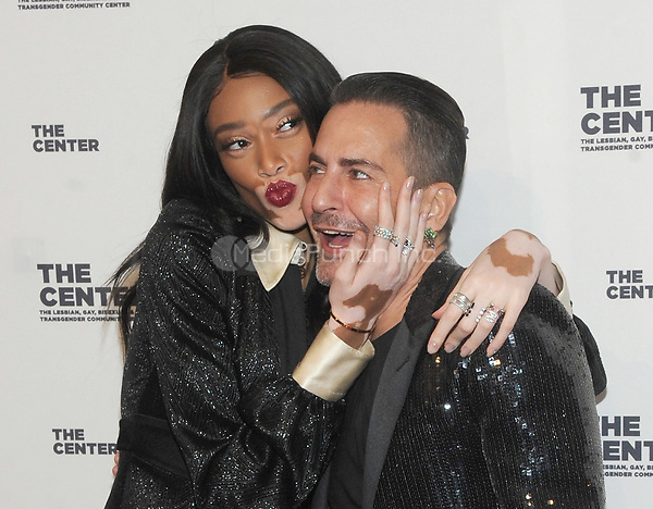 NEW YORK, NY - APRIL 20:  Model Winnie Harlow and Designer Marc Jacobs attends the the LGBT Community Center gala at Cipriani Wall street on April 20, 2017  in New York City. Photo by John Palmer/MediaPunch