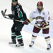 Chris Porter (University of North Dakota - Thunder Bay, ON), Dan Bertram (Boston College - Calgary, AB) - The Boston College Eagles defeated the University of North Dakota Fighting Sioux 6-4 in their 2007 Frozen Four semi-final on Thursday, April 5, 2007, at the Scottrade Center in St. Louis, Missouri.