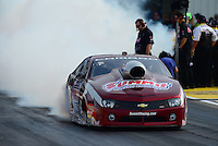 Sept. 28, 2012; Madison, IL, USA: NHRA pro stock driver Greg Anderson during qualifying for the Midwest Nationals at Gateway Motorsports Park. Mandatory Credit: Mark J. Rebilas-