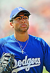 15 March 2008: Los Angeles Dodgers' infielder James Loney trots back to the dugout during a Spring Training game against the Washington Nationals at Space Coast Stadium, in Viera, Florida...Mandatory Photo Credit: Ed Wolfstein Photo