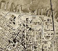 historical aerial photograph San Francisco, California 1968