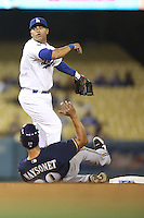 05/31/12 Los Angeles, CA: Los Angeles Dodgers third baseman Jerry Hairston Jr. #6 during an MLB game between the Milwaukee Brewers and the Los Angeles Dodgers played at Dodger Stadium. The Brewers defeated the Dodgers 6-2.