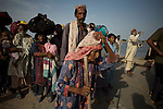Holding on to the last moment a group of residents from villages surrounding Jacobabad are finally forced to leave their ancestral villages as flood waters continue to rise. Nearly a month after the flooding began many refused to leave their lands and their property for fear of loosing them to thieves or land grabbers.