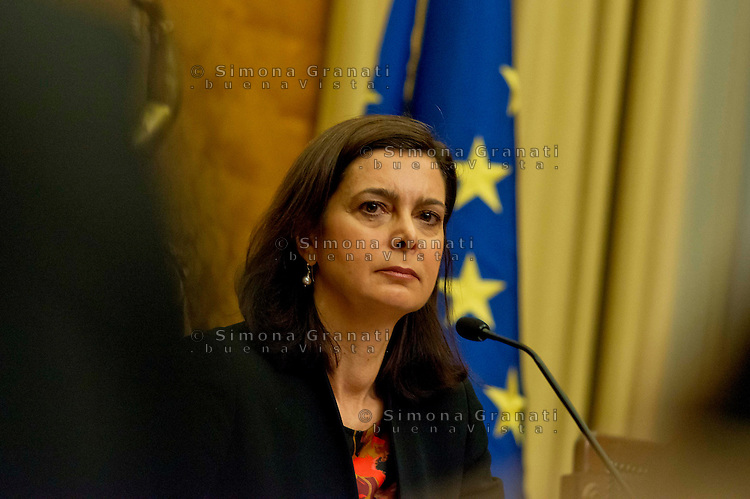 Roma 4 Febbraio 2014<br /> Il presidente della Camera dei Deputati Laura Boldrini, partecipa alla presentazione  del  documento conclusivo dell'indagine conoscitiva su &quot;Misure per fronteggiare l'emergenza occupazionale, con particolare riguardo alla disoccupazione giovanile&quot;, a  Palazzo Montecitorio.<br /> Rome, February 4, 2014 <br /> The president of the Chamber of Deputies Laura Boldrini, participates in the presentation of the final study document on &quot;Measures to deal with the emergency employment, especially with regard to youth unemployment,&quot;  to Palazzo Montecitorio.