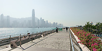 Kowloon waterfront overlooking Hong Kong harbour