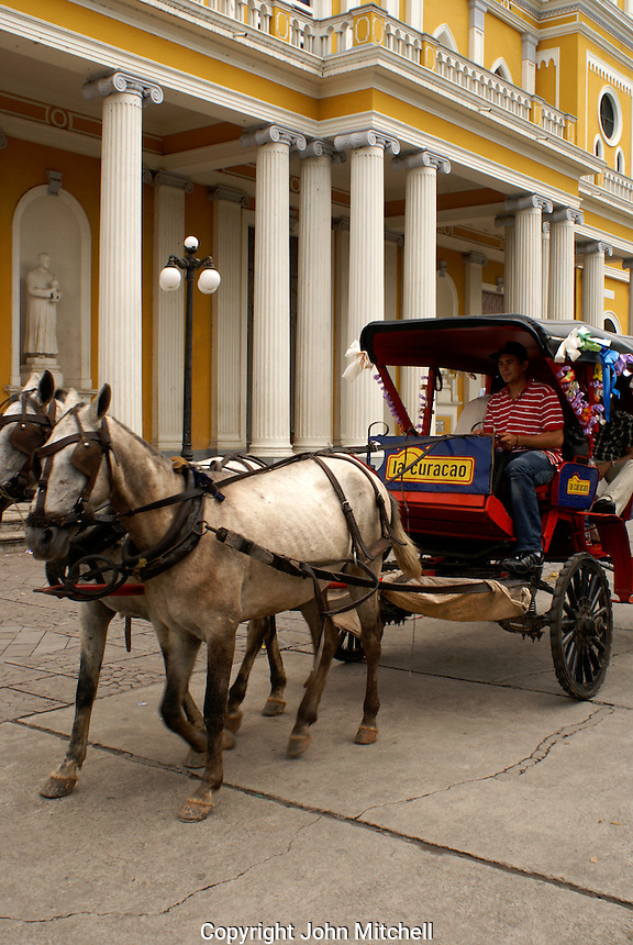 Hoorse drawn carriage in the Spanish colonial city of Granada, Nicaragua