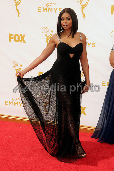 20 September 2015 - Los Angeles, California - Taraji P. Henson. 67th Annual Primetime Emmy Awards - Arrivals held at Microsoft Theater. Photo Credit: Byron Purvis/AdMedia