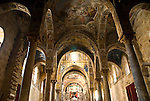 Martorana Church in Palermo, Sicily. Inside view.
