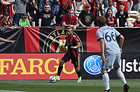 Atlanta, Georgia - Saturday, March 18, 2017: Atlanta United defeated the Chicago Fire 4-0 in front of a sold-out crowd at Bobby Dodd Stadium.