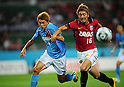 Kenichi Kaga (Jubilo), Hiroyuki Takasaki (Reds),..JULY 17, 2011 - Football :..2011 J.League Division 1 match between Jubilo Iwata 1-1 Urawa Red Diamonds at Ecopa Stadium in Shizuoka, Japan. (Photo by AFLO)