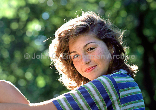Actress Tatum O'Neal in Central Park, June, 1979. Photo by John G. Zimmerman