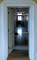 Hall way of abandoned dormintory in catholic school house in downtown Vicksburg Mississippi