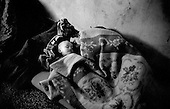 Travnic, Bosnia<br /> 1993<br /> <br /> Bosnian refugees, fleeing the ethnic war in the former Yugoslavia, sleep in an old school house.