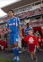 July 3, 2013: Montreal Impact defender Alessandro Nesta #14 walks onto the pitch during the opening ceremonies in an MLS game between Toronto FC and Montreal Impact at BMO Field in Toronto, Ontario Canada.<br /> The game ended in a 3-3 draw.