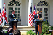 United States President Barack Obama and Prime Minister David Cameron of Great Britain hold a joint press conference in the Rose Garden of the White House in Washington, D.C. on Wednesday, March 14, 2012.  The two leaders took questions on Afghanistan, Iran, and the economy..Credit: Ron Sachs / CNP