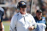 Head Coach Jeff Tedford. The University of California Berkeley Golden Bears defeated the UC Davis Aggies 52-3 in their home opener at Memorial Stadium in Berkeley, California on September 4th, 2010.