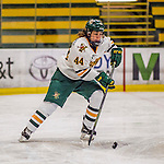 25 November 2016: University of Vermont Catamount Forward Victoria Andreakos, a Senior from Aurora, Ontario, in action against the Saint Cloud State Huskies at Gutterson Fieldhouse in Burlington, Vermont. The Lady Cats defeated the Huskies 5-1 to take the first game of the 2016 Windjammer Classic Tournament. Mandatory Credit: Ed Wolfstein Photo *** RAW (NEF) Image File Available ***