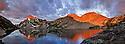 ID00370-00...IDAHO - Sunrise on Mount Regan from Sawtooth Lake in the Sawtooth Wilderness Area.