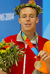 DonovanTidesley from Vancouver Bc, performing for silver medal in Ath&egrave;nes<br /> (Benoit Pelosse photographe,19 sept 2004)