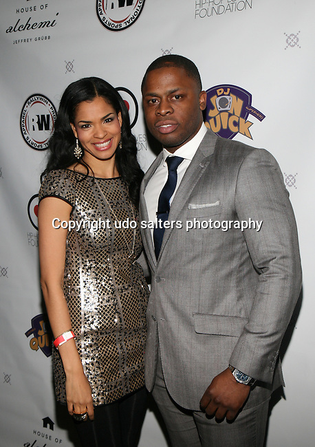 Jerrell and Honoree Amber Anderson at DJ Jon Quick's 5th Annual Beauty and the Beat: Heroines of Excellence Awards Honoring AMBRE ANDERSON, DR. MEENA SINGH,<br /> JESENIA COLLAZO, SHANELLE GABRIEL, <br /> KRYSTAL GARNER, RICHELLE CAREY,<br /> DANA WHITFIELD, SHAWN OUTLER,<br /> TAMEKIA FLOWERS Held at Suite 36, NY