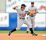 11 March 2008: Detroit Tigers' infielder Cale Iorg in action during a Spring Training game against the Cleveland Indians at Chain of Lakes Park, in Winter Haven Florida. The Tigers rallied to defeat the Indians 4-2 in the Grapefruit League matchup...Mandatory Photo Credit: Ed Wolfstein Photo