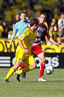 28 AUGUST 2010:  Adam Moffat of the Columbus Crew (22) during MLS soccer game between FC Dallas vs Columbus Crew at Crew Stadium in Columbus, Ohio on August 28, 2010.