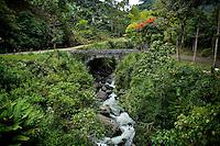 General view of Pizano bridge in the town of Jardin in Antioquia August 1, 2012. Photo by Eduardo Munoz Alvarez / VIEW.