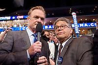 CHARLOTTE, NC - September 5, 2012 - Senator Al Franken at the 2012 Democratic National Convention at the Time Warner Cable Arena.