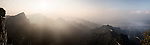 Panoramic sunset landscape scenery at Tianmen Mountain National Park, Zhangjiajie, Hunan, China