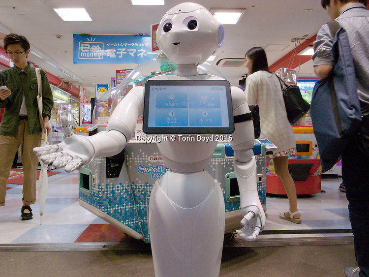 Pepper the happy humanoid Japanese robot