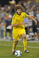 Tommy Heineman (32) Columbus Crew forward in action... Sporting Kansas City defeated Columbus Crew 2-1 at LIVESTRONG Sporting Park, Kansas City, Kansas.